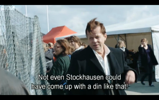"Wallander: ""Not even Stockhausen could have come up with a din like that!"""