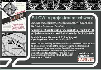 Projektraum Schwarz POND LIFE III Flyer