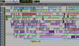 Pro Tools session: The Suitcases Piece 230 - 351
