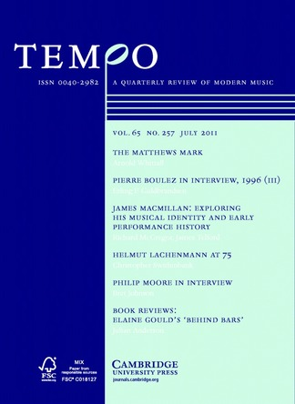 Tempo, Vol. 65, No. 257 (July 2011)