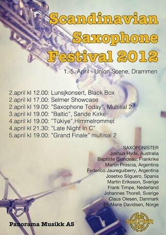 Poster for Scandinavian Saxophone Festival 2012