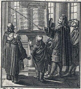 Christoph Weigel (1698) Ständebuch Page title: Der Kantor (Dirigent)