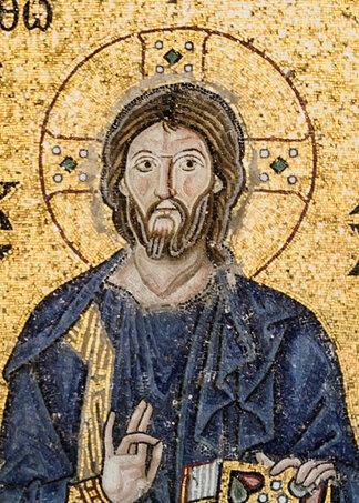 Detail of mosaic, Hagia Sofia, Istanbul (11th Century)