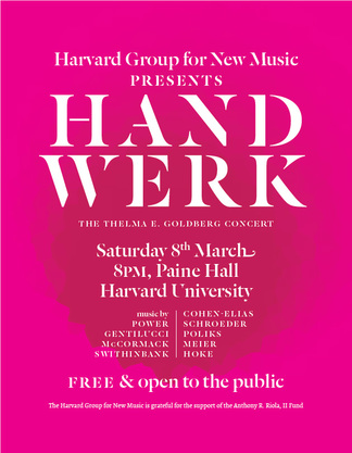 HGNM hand werk poster