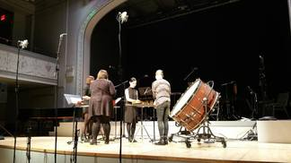 Stony Brook Contemporary Chamber Players performing local bond at Roulette