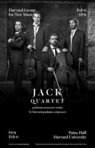 JACK Quartet HGNM concert poster